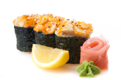 Kupsetatud sushi